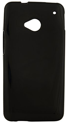 iCandy™ Colourful Thin Matte Finish Soft TPU Back Cover For HTC One M7 - Black  available at amazon for Rs.175