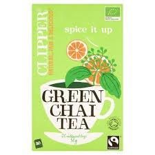 A photograph of Clipper organic green