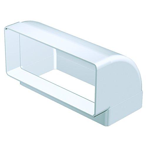 Lüftungskanal (Flachkanalbogen 90° senkrecht Bogen Flachkanal Lüftungskanal DN 150 220 x 90 mm)
