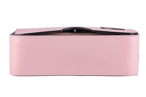 BORDERLINE - 100% Made in Italy - Echtes Leder Clutch - IRENE - Rosa