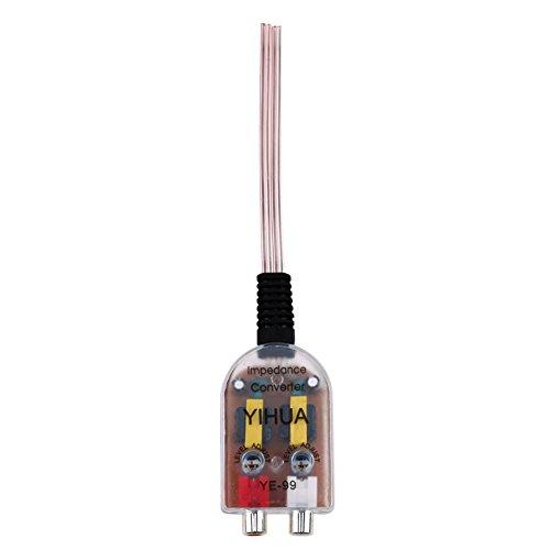 Starnearby Impedanzwandler fürs Autoradio, 12 V RCA-Anschluss, High-Low-Adapter