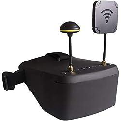 LoveOlvidoE LS-800D FPV Gafas DVR 5.8GHz 40CH 5 Pulgadas HD Pantalla LCD 854 * 480 Video Auriculares DVR Diversidad con batería 2000mAh