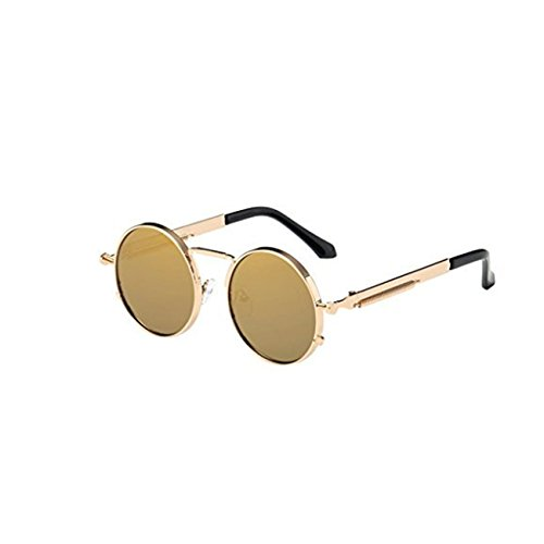 Occhiali da sole da donna uomo polarizzati - beautyjourney occhiali da sole donna rotondi vintage sunglasses cat eye - occhiali da sole donna occhiali unisex moda uv integrato (c)