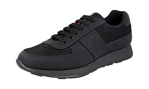 Prada 4E3341, Herren Sneaker, Schwarz - Schwarz - Größe: 43 EU