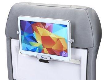 Atlas - Tablet-Halterung für Flugzeugsitz-Rückenlehne, für Tablets von 19,1 cm bis 26,7 cm (7,5 bis 10,5 Zoll), iPad, iPad Mini, Galaxy Tab Family (A,E,S), Nexus Family (7,9,10)
