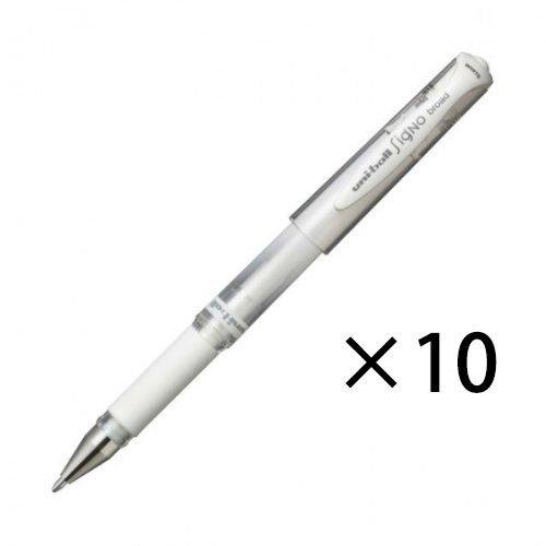 Uni bocha Signo UM-153 impacto Gel pluma Stock abierto, blanco, 10 bolígrafos por paquete