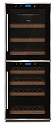 Caso WineMaster Touch 38-2D - wine coolers (freestanding, 5 - 22 °C, Black, A, Black, Glass, Stainless steel) by Caso