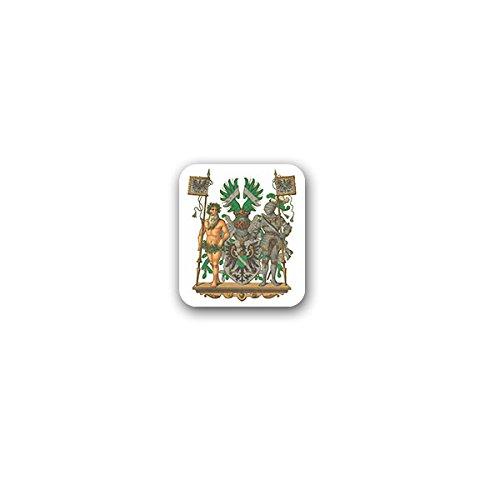 Copytec Aufkleber/Sticker -Rheinland Rheinprovinz Preußische Provinz Rheinland Rheinpreußen Rheinlande Bingen am Rhein Kleve Koblenz Rhld Deutschland historisch Wappen Abzeichen 6x7cm #A3191
