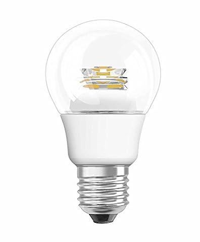 OSRAM LED-Lampe E27 Classic A Energiesparlampe / 5W - 40 Watt-Ersatz, LED Birne als Kolbenlampe / klar, warmweiß - 2700K