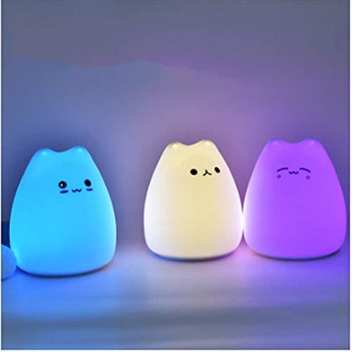 LMK Nachtlicht Dekorative Tischlampe Batterie Nette Katze Bunte Urlaub Wiederaufladbare Glühbirne Baby Schlafzimmer Lampen, G