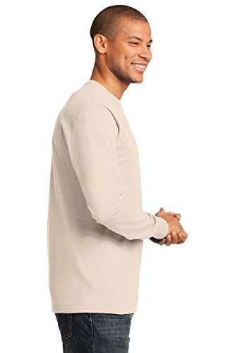 Port & Company Herren ist groß lang Sleeve Essential T Shirt Natural