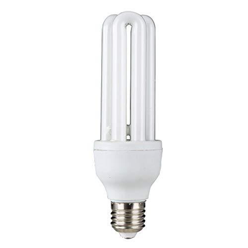 E27 Superhelle U-Spiral-Energiesparlampe, 6000 K (weißes Licht) , Nicht dimmbar, 3er-Pack [Energieklasse A], 3U-26W -