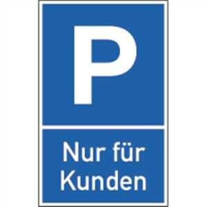 Schild Parkplatz Nur für Kunden Alu 40 x 25cm (Parkplatzschild) praxisbewährt, wetterfest Der König Auf Dem Parkplatz