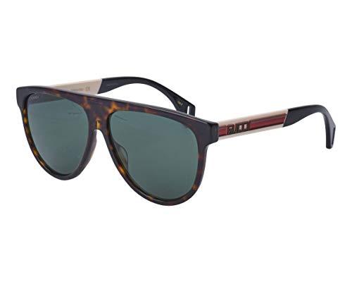 Gucci Sonnenbrillen (GG-0462-S 003) havana dunkel - weiߟ - grau-grün