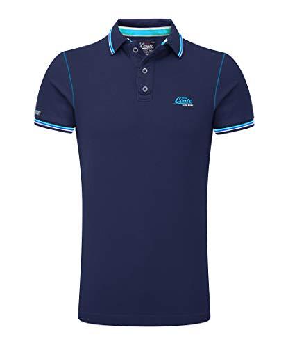 Klassisches Kurzarm-polo-shirt (M.Conte Herren Poloshirt Kurzarm Stretch Polohemd T-Shirt Polo-Shirt Pique Basic Men's Plain Royal Blau M L XL XXL XXXL Romano (XXXL, Navy Blau))