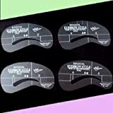 Set Of 4 Eyebrow Eye Brow Shaping Stencils get that hd brow shape yourself