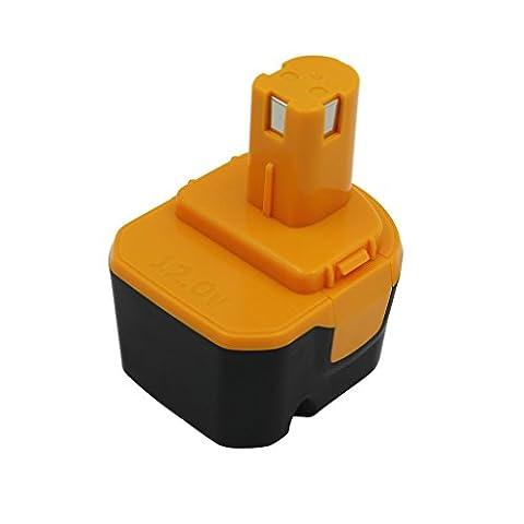 KINSUN Replacement Power Tool Battery 12V 3.0Ah Ni-Mh for Ryobi Cordless Drill Impact Driver B-1230H, B-1222H, B-1220F2, B-1203F2, 1400652, 1400652B, 1400670 and More