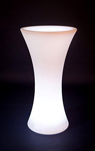 Hapro LED Stehtisch beleuchtet - Biertisch - Bistrotisch - Messetisch- Partytisch- Farbwechsel