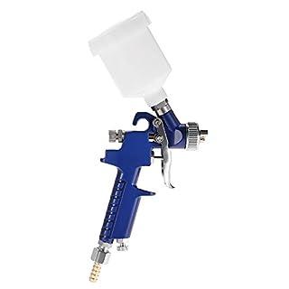 KKmoon Airbrush Kit HVLP Air Spray Gun Touch Up Paint Sprayer Gravity Feed Air Brush Set 0.8mm Nozzle Auto Car Detail Painting for Spot Repair