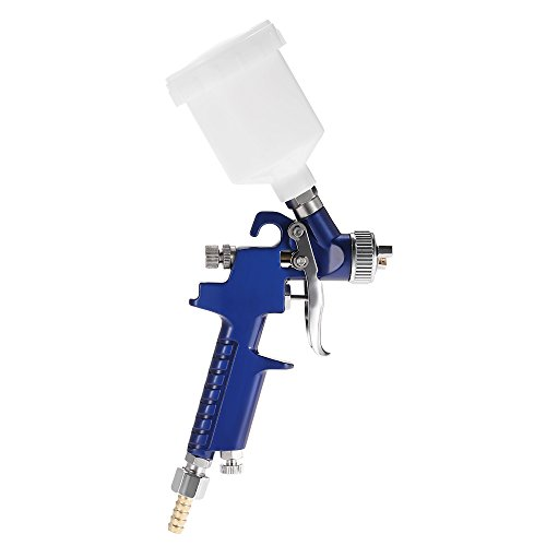 HVLP Lackierpistole mit Fließsystem, 0,8mm Düse, für das Ausbessern von Details an Autos, Gebrauchsanweisung evtl. nicht in deutscher Sprache