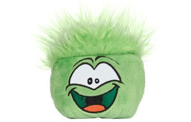 Disney's Club Penguin Plush Puffle - Series 5 - GREEN (4 inch) (Includes Coin with Code) by Disney