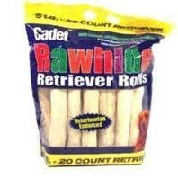 Cadet Rawhide Retriever Rolls Dog Chew, 6 Pound- 20 Piece Value Pack by Top Dog Treats and Chews (English Manual)