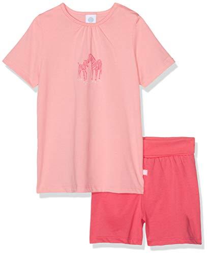 Sanetta Baby-Mädchen Pyjama Short Zweiteiliger Schlafanzug, Rot (Coral Light 3937), 80