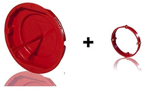 Signaldeckel für Gerätedose und Abzweigdose und/oder Putzausgleichsringe (Signaldeckel für Abzweigdose Ø 70mm + Putzausgleichsring Tiefe 12mm, 10 Stück)