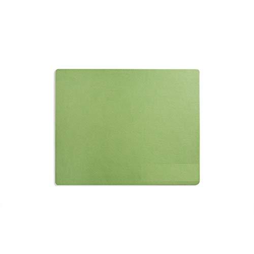 Top spezifische-modeska 26,2x 21,1cm Leder Mauspad-Gaming und Executive Mauspad grün lichtgrün -