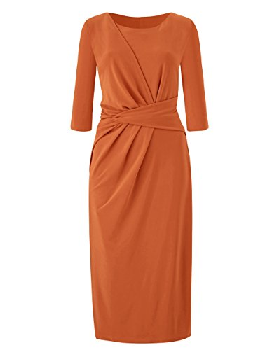JD Williams Womens Side Tuck Dress In Orange 12