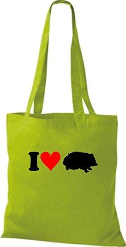 Shirtstown, Borsa a mano donna Verde (Giallo)