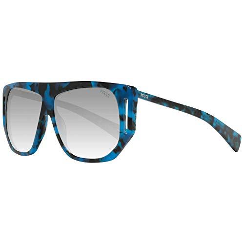 Emilio Pucci Unisex-Erwachsene EP0077 55B 57 Sonnenbrille, Braun (Avana Colorata/Fumo Grad),