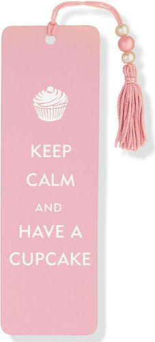 Keep Calm and Have a Cupcake Beaded Bookmark
