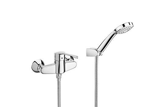 Roca Victoria - grifo monomando exterior para ducha con ducha de mano, flexible de 1,50 m. y soporte de ducha . Griferías hidrosanitarias Monomando. Ref. A5A3260C00