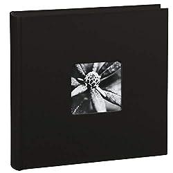 Hama Jumbo Fotoalbum Fine Art, XXL Album im Format 30x30, 100 schwarze Seiten für bis zu 400 Fotos im Bildformat 10x15, Fotoalbum zum selbstgestalten, Fotobuch mit Ausschnitt für Bildeinschub, schwarz