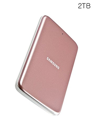 Samsung H3 External Hard Drive 2tb Usb 3.0, Samsung Official Genuin (pinkgold)