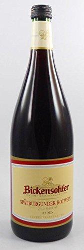Spätburgunder Rotwein halbtr. 1 Liter WG Bickensohl, halbtrockener Rotwein aus Baden