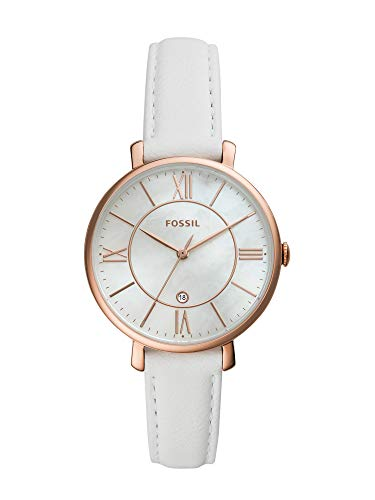 Fossil Damen Analog Quarz Uhr mit Leder Armband ES4579