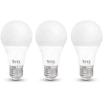 TM Electron Bombillas LED E27, 10 W, Blanco Frío 3 Unidades