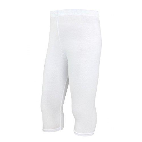 TupTam Mädchen Leggings 3/4 Capri Baumwolle Blickdicht, Farbe: Weiß, Größe: 104