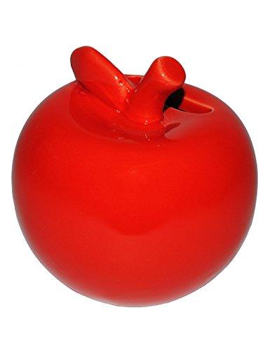 beim Geldeinwerfen Sparbüchse Sparsch Spardose Apfel mit Wurm mit BEWEGUNG
