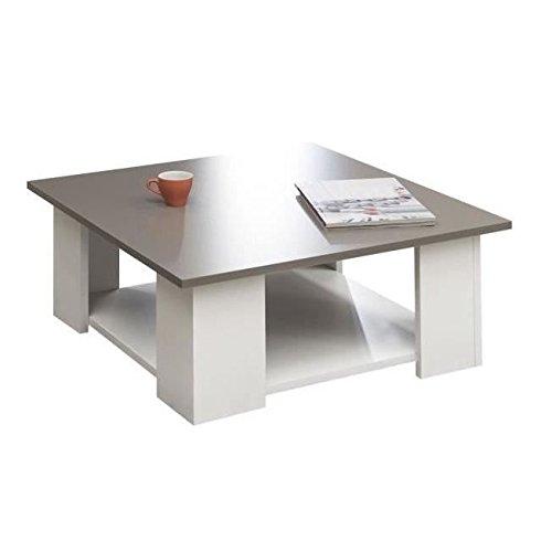 LIME Table basse carrée 67 cm plateau taupe