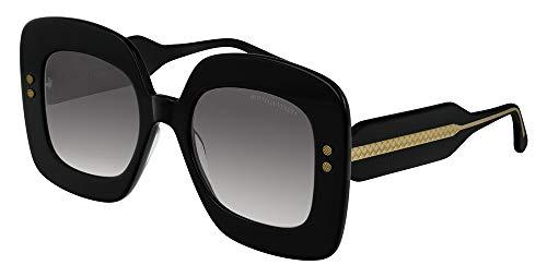 Bottega veneta occhiali da sole donna bv0237s 001 dna nero squadrati grigi tg 50