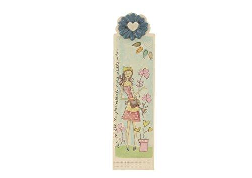WALD - Segnalibro con Fiore in Ceramica Decorato a Mano - AFF/33/RE
