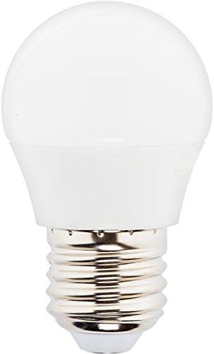 MÜLLER-LICHT 400035 A+, HD-LED Lampe Miniglobe Ersetzt, 40 W, Plastik, E27, weiß, 4,5 x 4,5 x 8 cm dimmbar