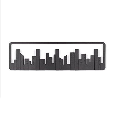 Perchero Nan Sistema de Gancho de Pared Skyline, Negro