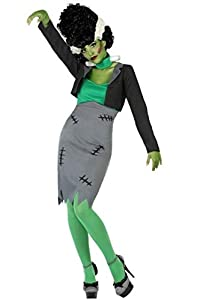 Atosa-53982 Atosa-53982-Disfraz Zombie para mujer adulto-talla, color verde, M-l (53982)