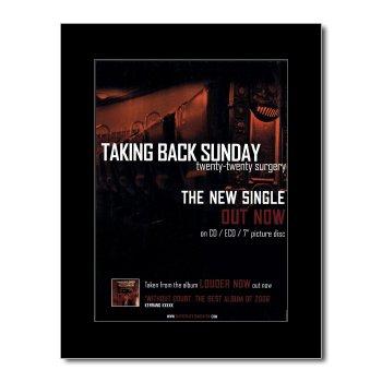 Taking Back Sunday Poster (Music Ad World Mini-Poster, Motiv Taking Back Sunday - Twenty-Twenty Surgery, matt, 28,5 x 21 cm)
