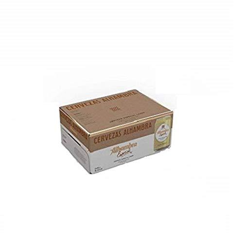 Alhambra Especial - Cerveza Dorada Lager, 5.4% Volumen de Alcohol, Pack de 12 x 33 cl
