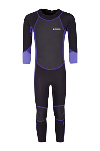 Mountain Warehouse Kinder-Neoprenanzug in voller Länge - UPF-50+-Sonnenschutz, Flache Nähte, leicht zu schließender Reißverschluss - ideal für Strand und Tauchen Violett 164 (13 Jahre)